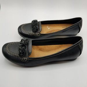 Cobb Hill by New Balance 9.5N Black Leather Flats
